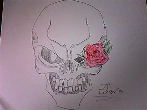 skull with rose eye colored by lifegiving on deviantart