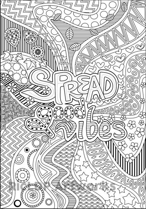 good vibes coloring book pages 1000 images about 1 coloring for adults on pinterest