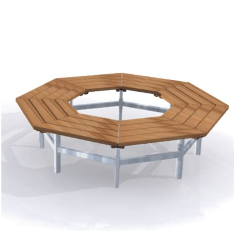 octagon tree bench octagonal tree seat benches park street furniture