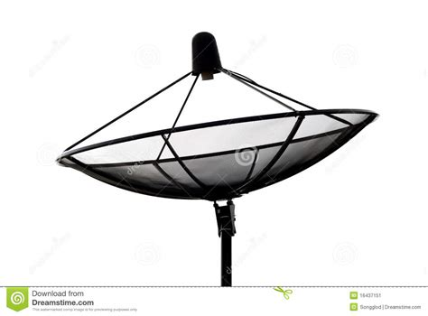 satellite dish silhouette stock image image  reception