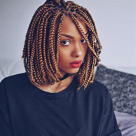 pictures of blue hair braided into brown hair 30 cute and chic box braids will rescue your natural curly