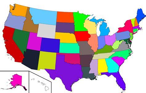 interactive us map color podział terytorialny 171 usa trip