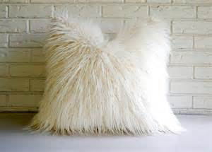 Big White Decorative Pillows Reserved For Michelisantanna White Shag Pillow Cover Faux