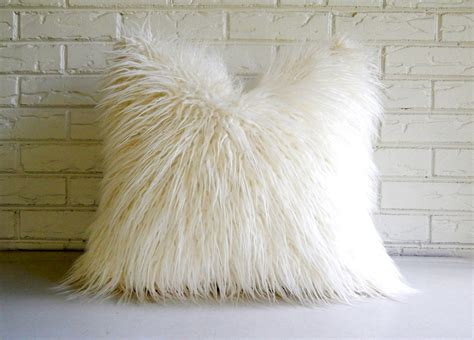 Light Grey Fur Cushion Bantal Bulu black white home accessories curio design studio