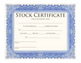Stock Templates by Stock Certificate Template Certificate Templates