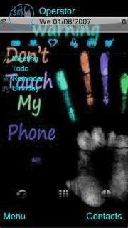 Download Themes To My Phone | download dont touch my phone s60v5 theme nokia theme