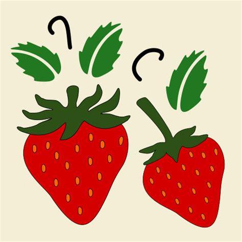 strawberry template strawberry stencil strawberries fruit fruits stencils