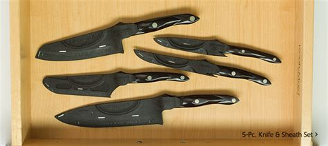 kitchen knives with sheaths kitchen knife combos w sheaths by cutco