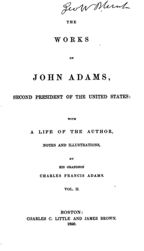 biography title ideas the works of john adams vol 2 diary notes of debates