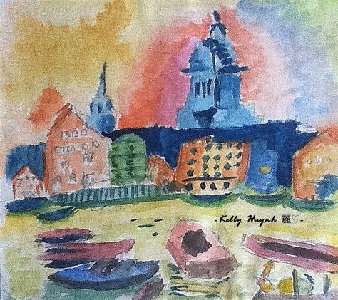 Landscape Artists Gcse Gcse Watercolour Painting By Kellyhuynh On Deviantart