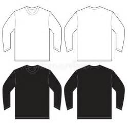 black white long sleeve t shirt design template stock
