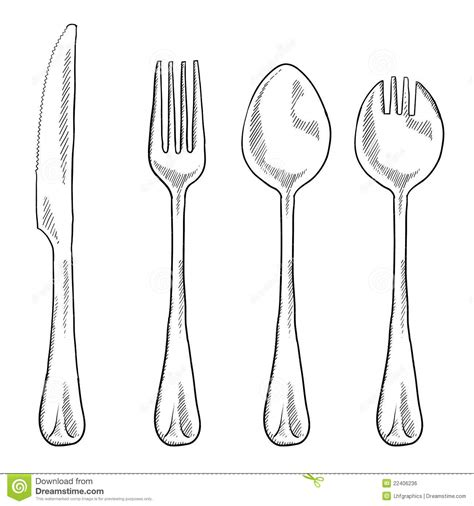 Drawing Utensils by Utensils Drawing Royalty Free Stock Image Image