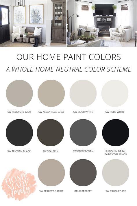 is black a neutral color our home s paint colors a neutral whole home color scheme