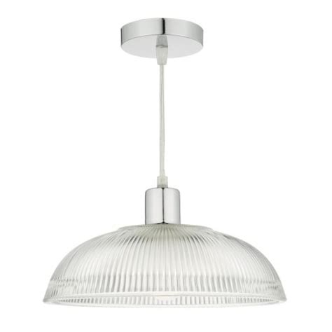 Easy Fit Pendant Lights Dar Lighting Afton Easy Fit Ceiling Pendant Shade With Ribbed Glass Shade Lighting Type From