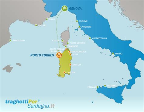 tratta porto torres genova tratta traghetti da genova a porto torres traghettiper