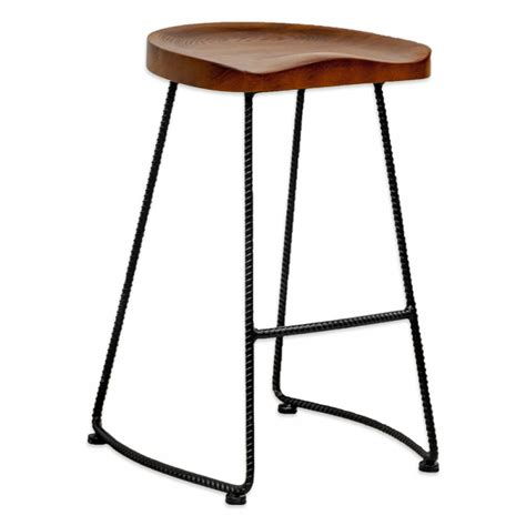 Stool Wood And Metal by Potter Wood Counter Stool Metal Leg 2 Pack