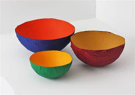 paper bowl crafts paper mache bowl craft 183 kix cereal