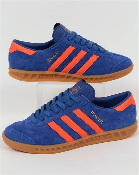 adidas hamburg trainers royal blue orange dublin originals shoes sneakers