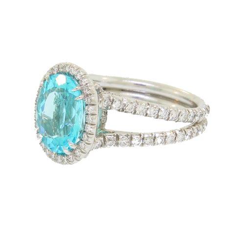Handmade Rings For Sale - paraiba tourmaline ring with handmade platinum