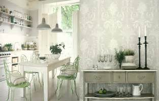 wallpaper in kitchen ideas white kitchens