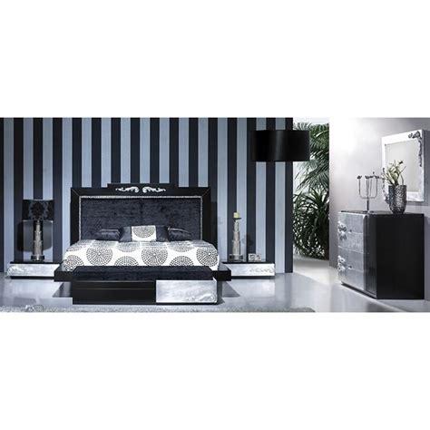Luxus Carved Black And Silver Leaf Bedroom Set Collection Silver Leaf Bedroom Furniture