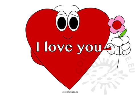 red heart coloring page i love you red heart coloring page
