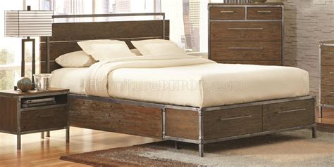arcadia bedroom furniture arcadia 203801 bedroom in weathered acacia by coaster w