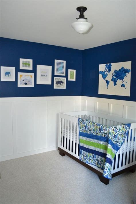 Nursery With Wainscoting by Aj S Nursery Nursery Bright And Wainscoting