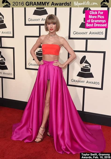 taylor swift and grammys taylor swift s dress at grammys 2016 stuns in crop top
