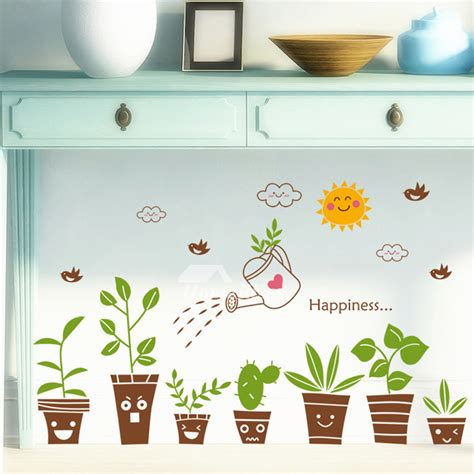 cheap wall stickers for rooms cheap wall stickers plant pattern home decor pvc living room vanity