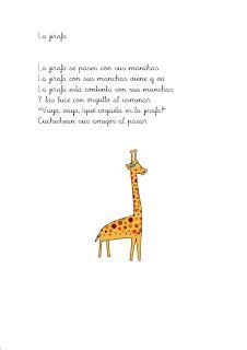 poema para jirafa en mi clase 161 animalitos