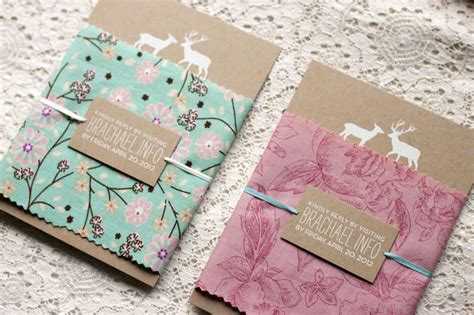 how to make a fabric covered wedding card box rachael brian s woodland and fabric wedding invitations