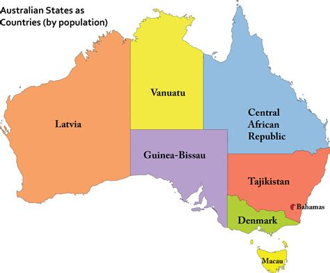 australia population map populated peoples front of australia international bs
