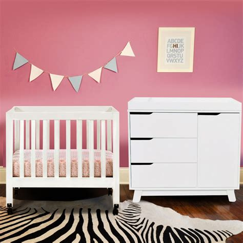 Mini Crib With Wheels Babyletto Hudson White Crib Designs And Images Homesfeed