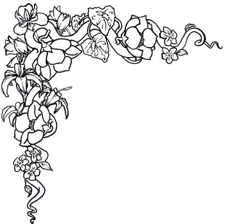 free coloring page borders free coloring pages of floral border