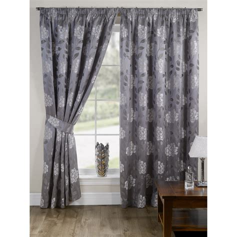 Floral Lined Curtains Davina Fully Lined Ready Made Floral Patterned Curtains Drapes