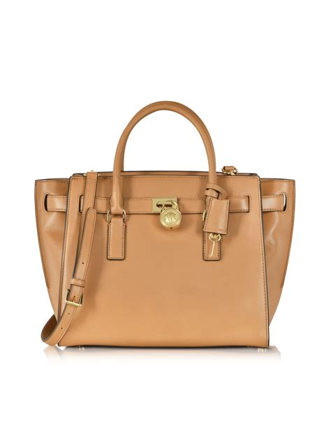 Michael Michael Kors Saratoga Leather Satchel by Lyst Michael Kors Hamilton Traveler Large Leather