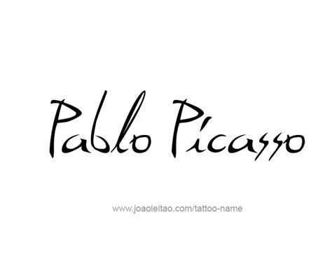 name art tattoo designs pablo picasso artist name designs tattoos with names