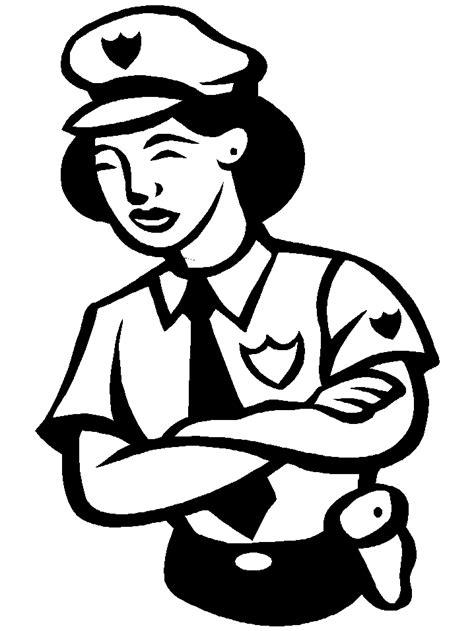 colorea tus dibujos maestras para colorear colorea tus dibujos dibujo de policia mujer para colorear
