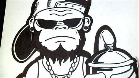 imagenes de calaveras gordas c 243 mo dibujar un gorila graffiti youtube