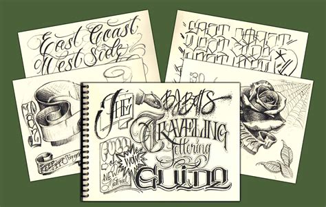 tattoo lettering pdf the new bj betts traveling lettering guide 171 tim hendricks