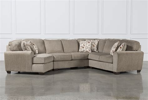 sectional couch with cuddler patola park 4 piece sectional w laf cuddler living spaces