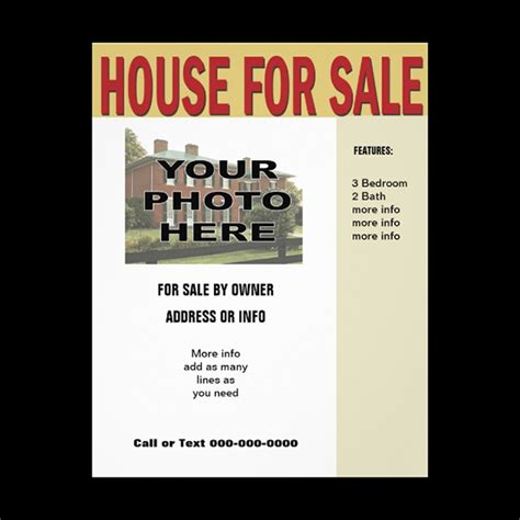 house for sale flyer format of house for sale flyer