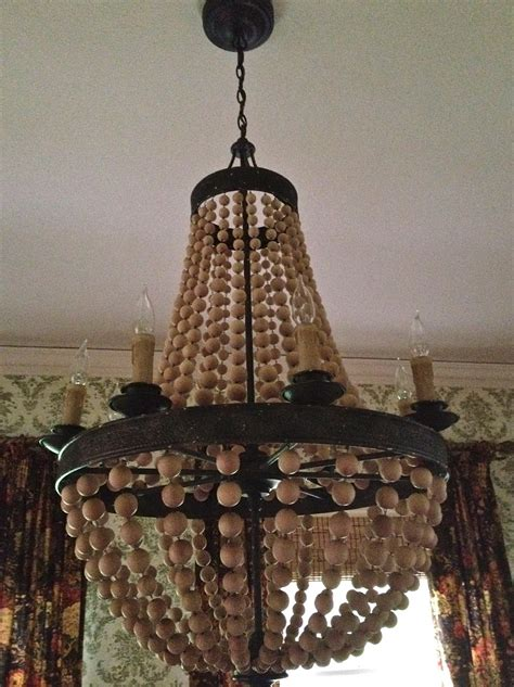 Chandeliers Pottery Barn Wood Bead Chandelier Pottery Barn Home Design Ideas