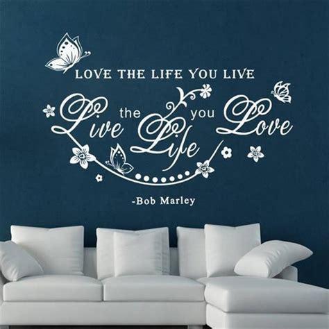 muurstickers voor woonkamer bol muurtekst muursticker tekst love the life