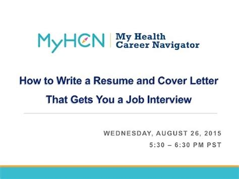 how to write a resume and cover letter that gets you a job