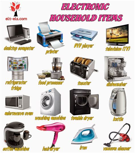 home items electronic household items www elt els