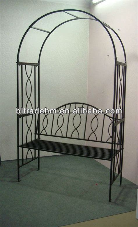garden arch with bench metal garden arch with bench buy metal garden arch with