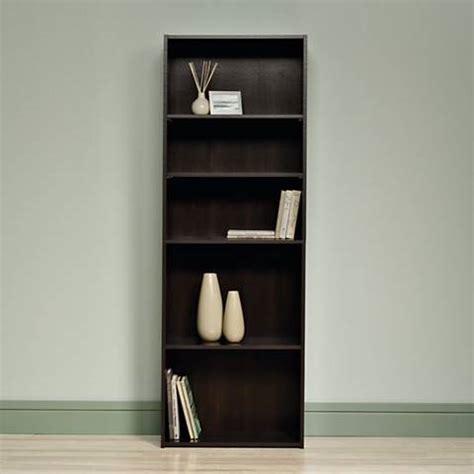 sauder beginnings cinnamon cherry 5 shelf bookcase