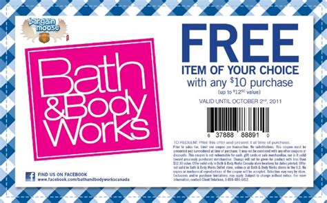 Bed And Works Coupon by Bath Works Canada Free Item Up To 12 50 With 10